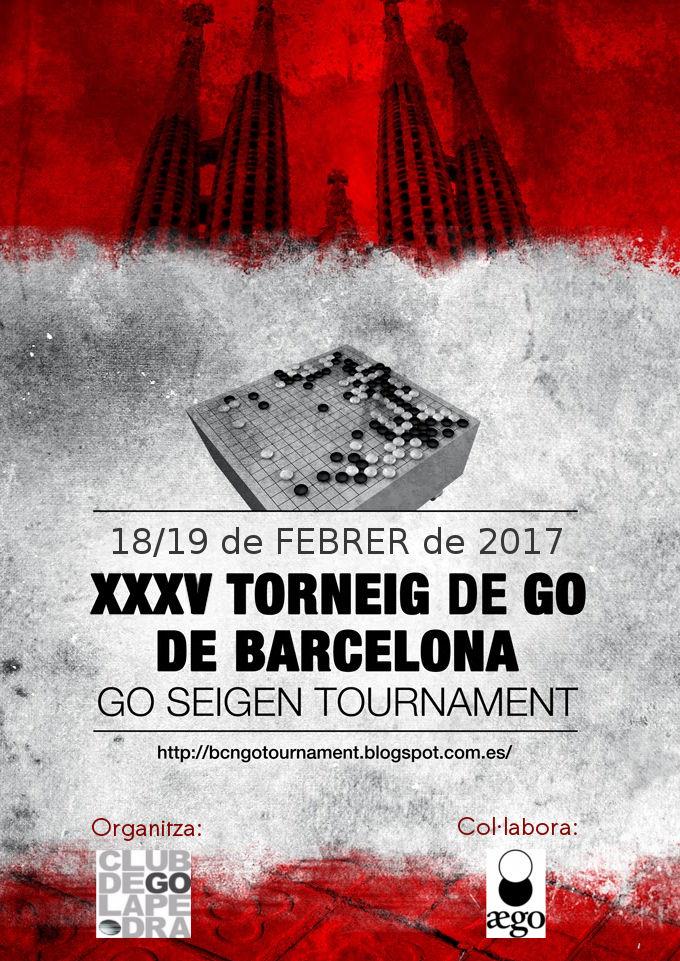 Cartel del torneo Go Seigen 2017 de Barcelona